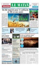 Du blé importé pour 11 milliards de DH en une année - Le Matin