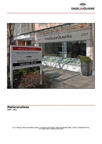 Referenzliste Verkauf - Engel and Völkers