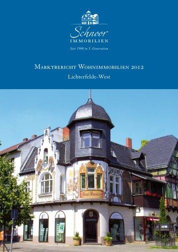 Marktbericht 2012 Lichterfelde-West - Schnoor Immobilien