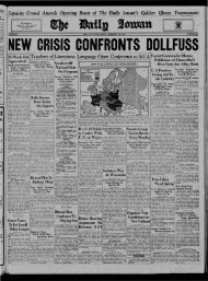 February 16 - The Daily Iowan Historic Newspapers - University of ...