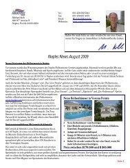 Naples News August 2009 - Immobilien in Naples