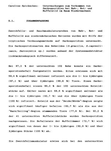 Caroline Spickschen: Untersuchungen zum Vorkommen von ...
