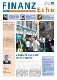 Finanz-Echo 1-09_4.indd - Volksbank Reutlingen