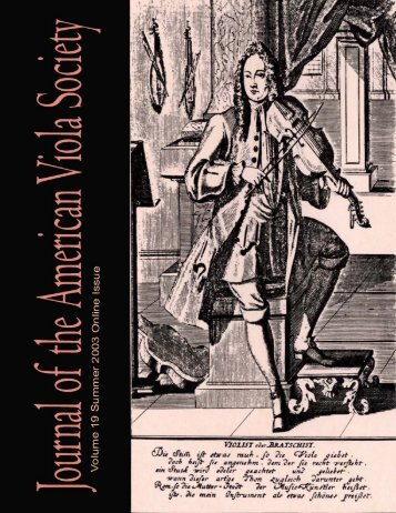 Journal of the American Viola Society Volume19 Online, Summer ...