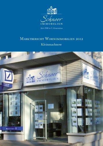(1) Marktbericht 2012 Kleinmachnow.psd - Schnoor Immobilien