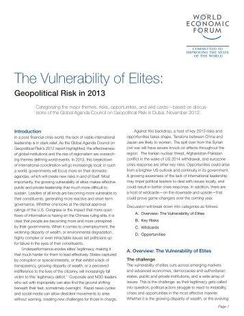 The Vulnerability of Elites: - World Economic Forum