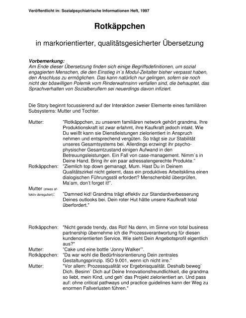 Rotkäppchen - Kulturserver NRW