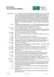 Historisches über die Stiftung Waldheim - Akustik & Raum AG