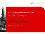Entsorgung von Bohrabwasser und Bohrschlamm im Kanton ...