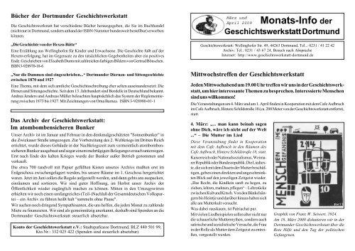 Geschichtswerkstatt-Info März und April 2009