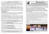 Geschichtswerkstatt-Info Mai bis Juli 2007