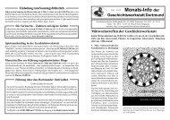 Monats-Info der - Geschichtswerkstatt Dortmund eV
