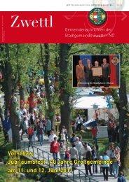 """Vorschau: Jubiläumsfest """"40 Jahre Großgemeinde"""" am 11 ... - Zwettl"""