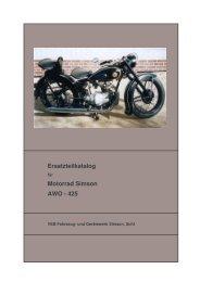 Ersatzteilkatalog Motorrad Simson AWO - 425
