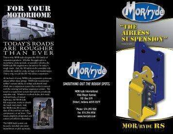 for your motorhome - MOR/ryde International