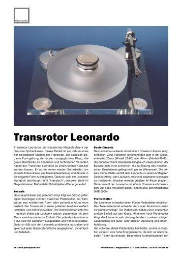 Transrotor Leonardo - PhonoPhono