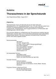 Thoraxschmerz in der Sprechstunde - mediX schweiz