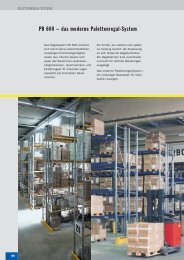 PR 600 – das moderne Palettenregal-System