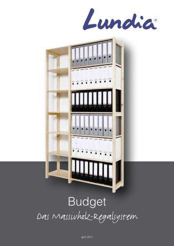 Das Massivholz-Regalsystem Budget - Lundia