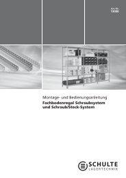 Montage- und Bedienungsanleitung Fachbodenregal ...