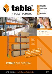 REGALE MIT SYSTEM - Lagertechnik