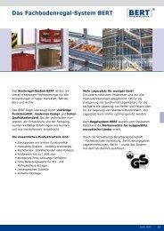 Fachbodenregal Bert - pietig Lagertechnik GmbH