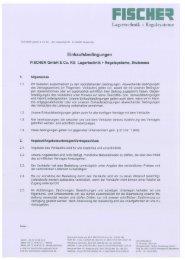 Lagertechnik + Regalsysteme - FISCHER Lagertechnik