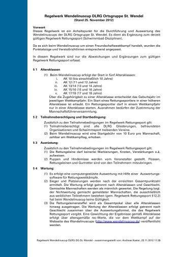Regelwerk - DLRG - Ortsgruppe St. Wendel