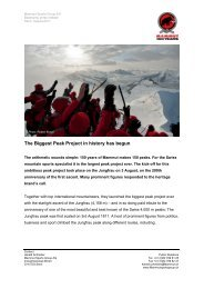 Basecamp press release - Mammut