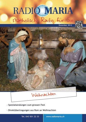Dezember - Radio Maria Deutschschweiz
