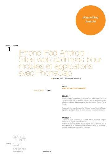 iPhone iPad Android - Sites web optimisés pour ... - Regart.net