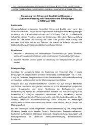 Steuerung von Ertrag und Qualität bei Kleegras - Zusammenfassung ...