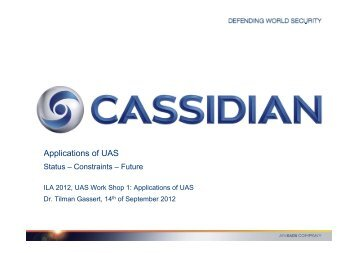 Applications of UAS - ILA