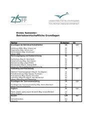 Erstes Semester: Betriebswirtschaftliche Grundlagen - ZIS-FF
