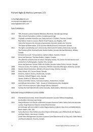 Richard Ibghy & Marilou Lemmens  CV