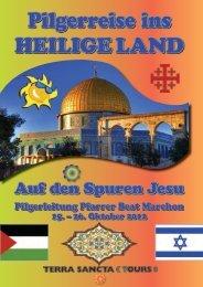 Pilgerreise ins Heilige land - Schweizerischer Heiligland-Verein