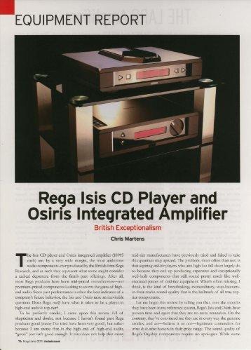 Rega Isis-Osiris Review - Living Sound + Vision