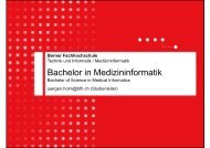 Studium der Medizininformatik - Berner Fachhochschule Technik ...