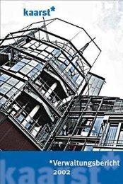 Verwaltungsbericht 2002 (2 MB ) - Stadt Kaarst