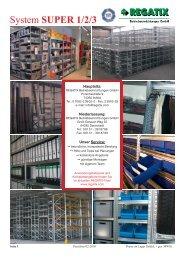 System SUPER 1/2/3 - REGATIX - Betriebseinrichtungen GmbH