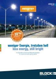 weniger Energie, trotzdem hell less energy, still bright - BLOCK ...