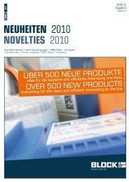 Neuheiten Prospekt 2010/11 - BLOCK Transformatoren-Elektronik ...