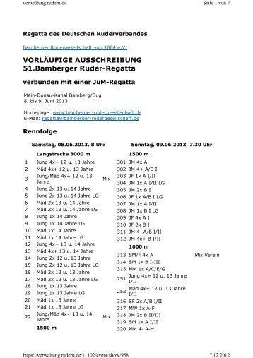 Regatta - Bayerischer Ruderverband