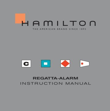 Regatta-alaRm INSTRUCTION MANUAL - Hamilton