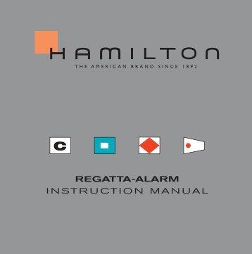 Regatta-alaRm INSTRUCTION MANUAL - Hamilton