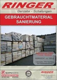 GEBRAUCHTMATERIAL SANIERUNG - Ringer KG