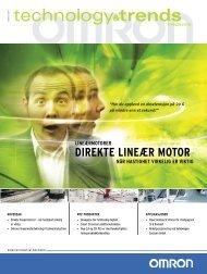Direkte lineær motor – når hastighet virkelig er viktig - Omron Europe