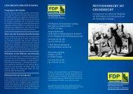 Petitionsrecht ist Grundrecht - FDP-Landtagsfraktion Sachsen