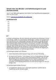 Blindengeldgesetz Sachsen Anhalt