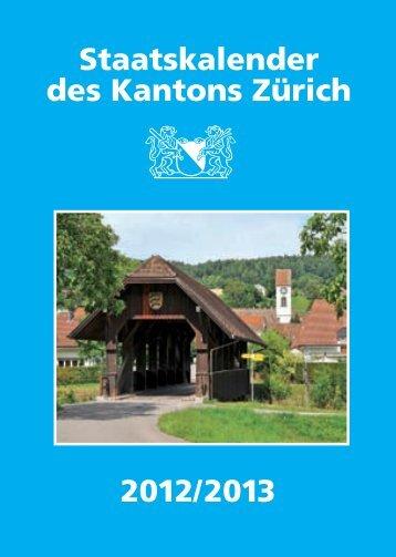 Bezirke (PDF, 48 Seiten, 194 kB) - Kanton Zürich